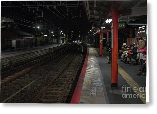 Inari Station, Kyoto Japan Greeting Card