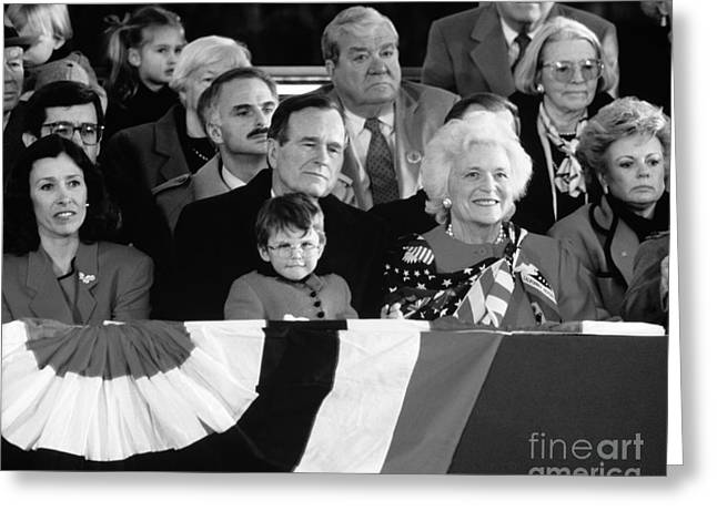 Inauguration Of George Bush Sr Greeting Card