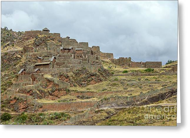 Inca Ruins In Pisac Greeting Card