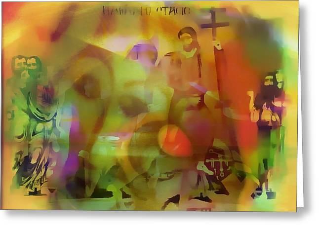 Incarnation Vision Greeting Card by Marshall Thomas
