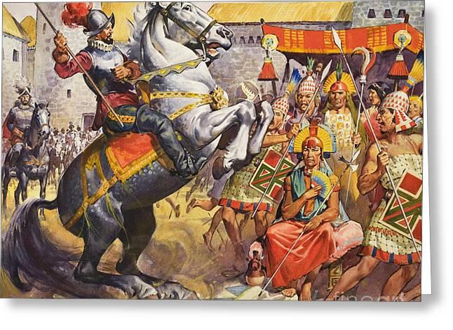 Incas Greeting Card