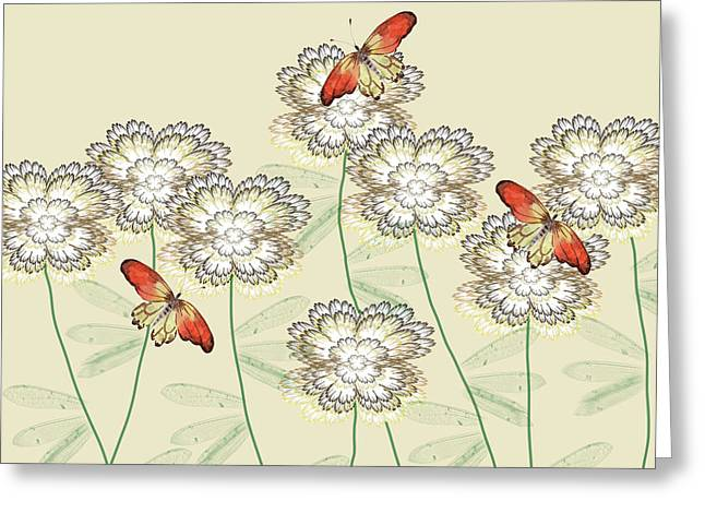 Incendia Flower Garden Greeting Card