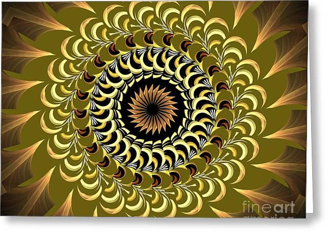 Incendia Kaleidoscope Greeting Card by Deborah Benoit