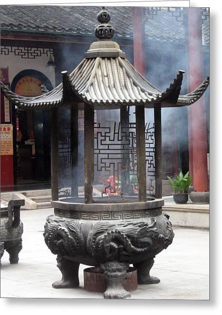 Incense Burner Shanghai Greeting Card