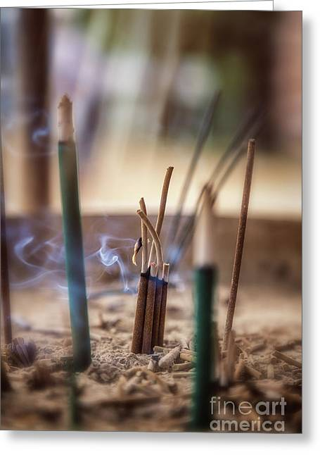 Incense Burning Greeting Card