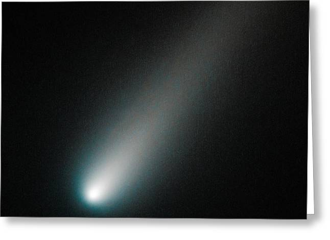 Incoming Comet Ison Greeting Card by Marco Oliveira