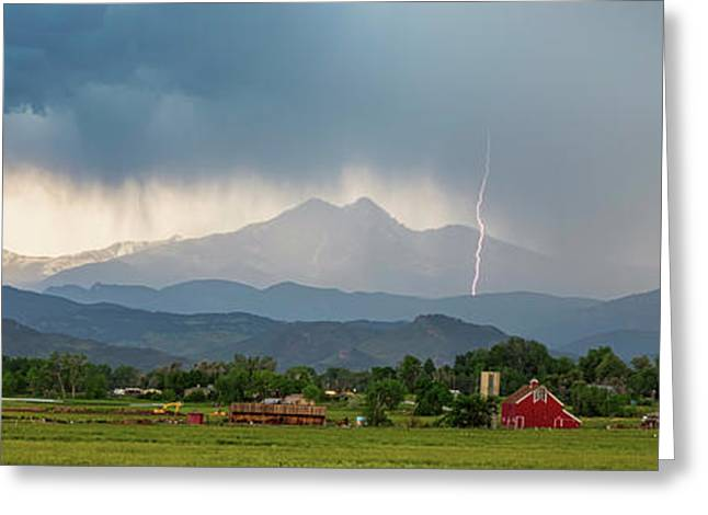 Greeting Card featuring the photograph Incoming Storm Panorama View by James BO Insogna
