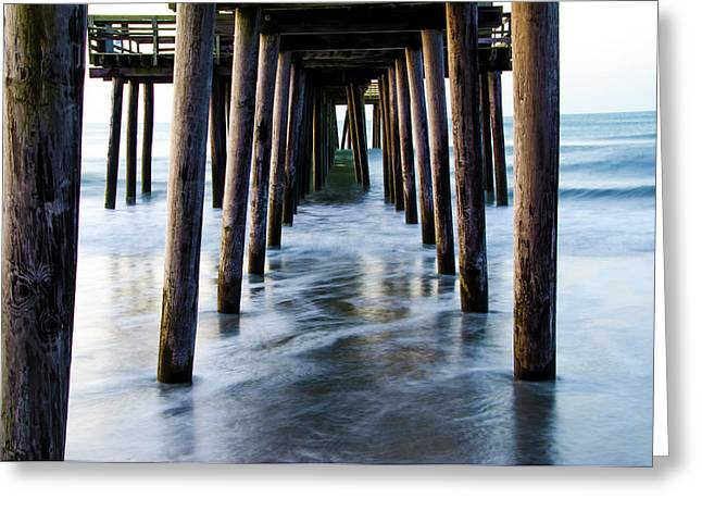 Incoming Tide - 32nd Street Pier Avalon Greeting Card by Bill Cannon