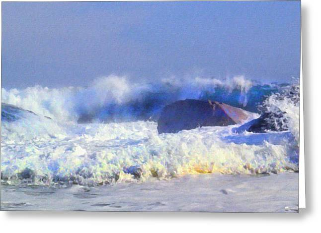 Incoming Wave Greeting Card by Frank Wilson