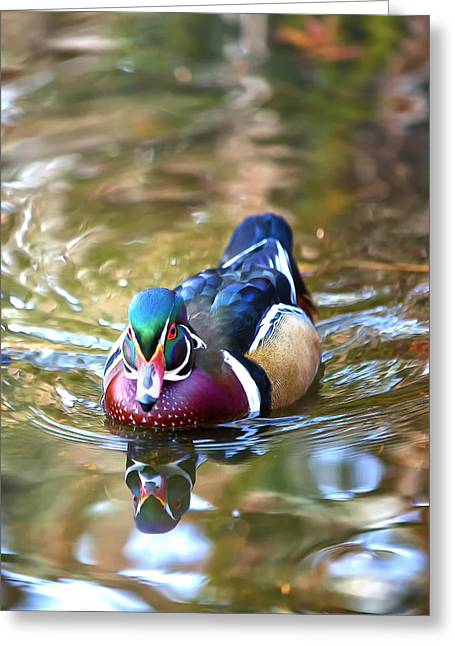 Incoming Woody Greeting Card by Bill Tiepelman