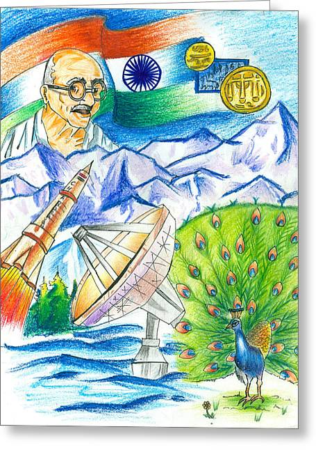 Incredible India Greeting Card by Tanmay Singh