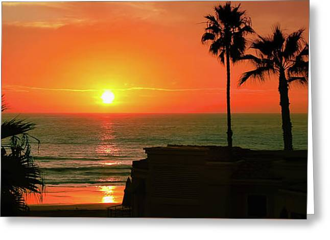 Incredible Sunset View Greeting Card