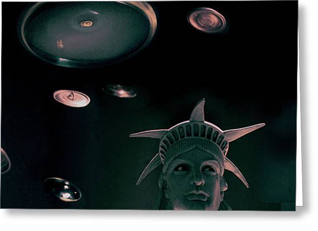 Independence Day Greeting Card by Cayetano Ferrandez