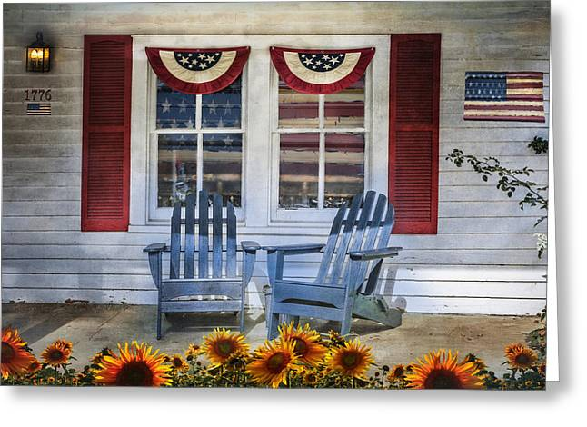 Independence Day Greeting Card by Debra and Dave Vanderlaan