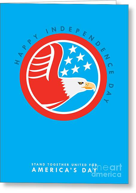 Independence Day Greeting Card-american Bald Eagle  Greeting Card