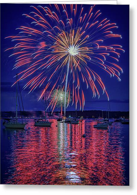 Independence Day In Boothbay Harbor Greeting Card
