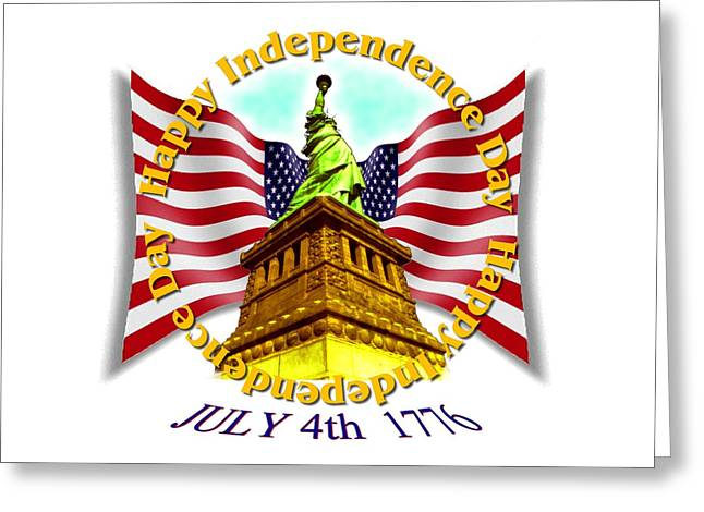 Independence Day July 4th 1776 Design Greeting Card