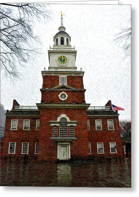 Independence Hall In Philadelphia Greeting Card by Bill Cannon