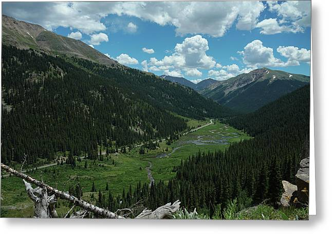 Independence Pass In Summer Greeting Card by Daniel Lowe