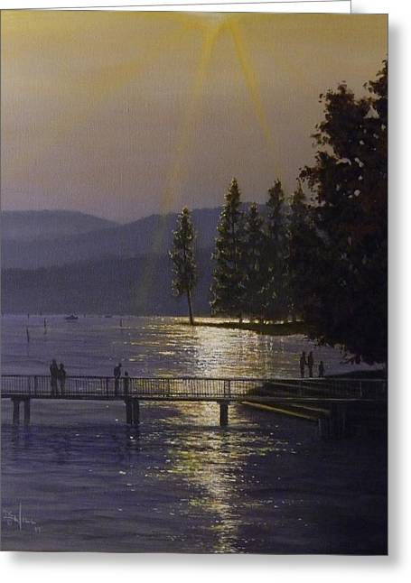 Independence Point, Lake Coeur D'alene Greeting Card