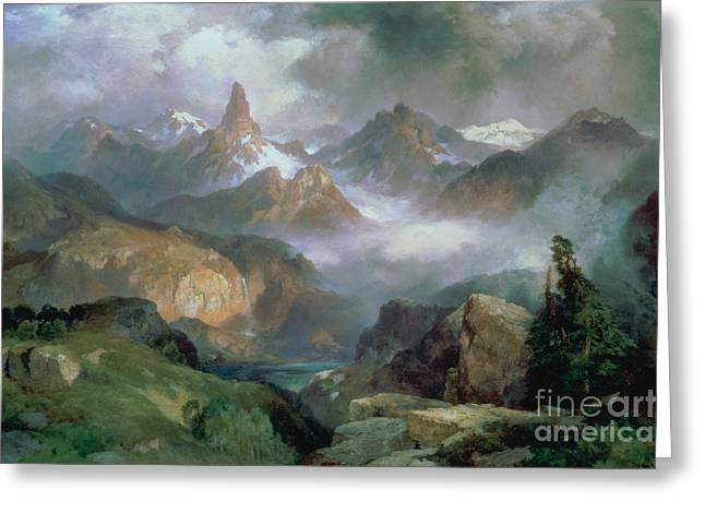 Index Peak Greeting Card by Thomas Moran