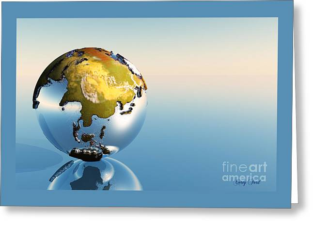India, Asia, Japan Greeting Card by Corey Ford