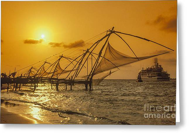 Greeting Card featuring the photograph India Cochin by Juergen Held
