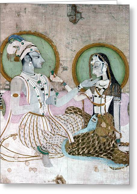 India: Couple Greeting Card by Granger