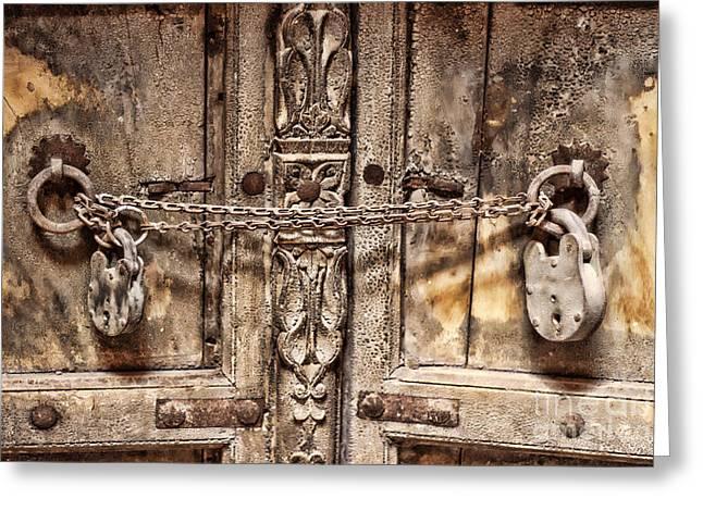 Old Door A Greeting Card by Svetlin Yosifov