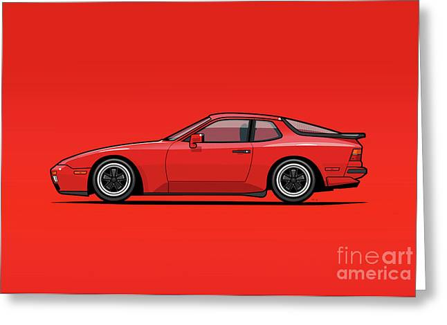 India Red 1986 P 944 951 Turbo Greeting Card