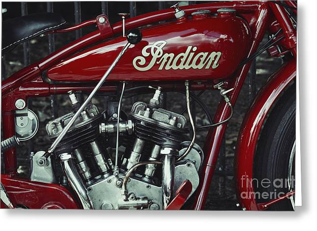 Indian 101 Scout Greeting Card by Tim Gainey