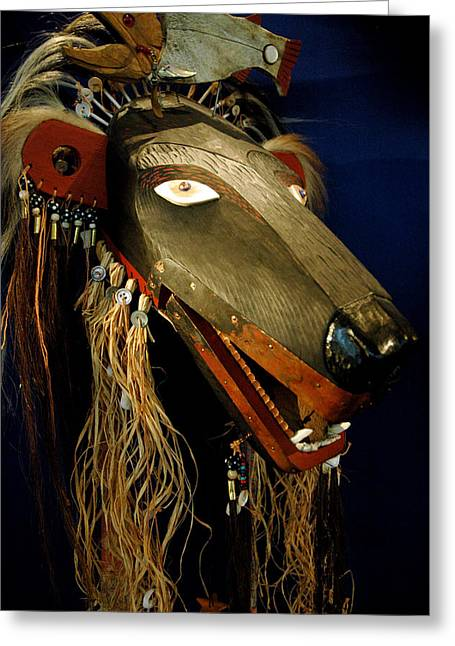 Indian Animal Mask Greeting Card