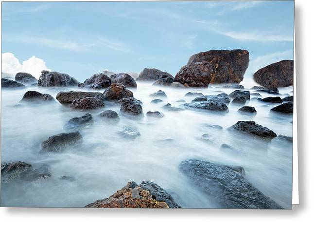 Indian Beach At Ecola State Park, Oregon  Greeting Card