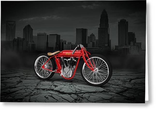 Indian Board Track Racer 1920 City Greeting Card
