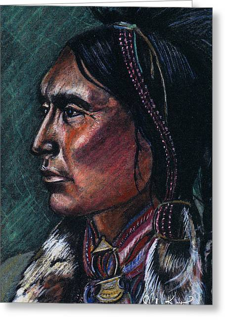 Indian Brave Greeting Card by John Keaton