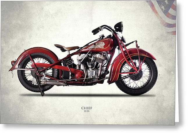 Indian Chief 1939 Greeting Card by Mark Rogan