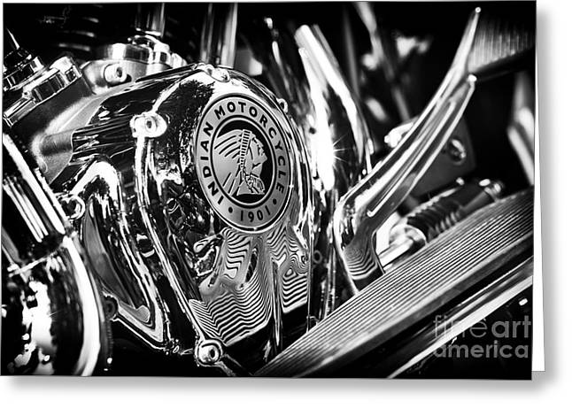 Indian Chief Engine Casing Greeting Card