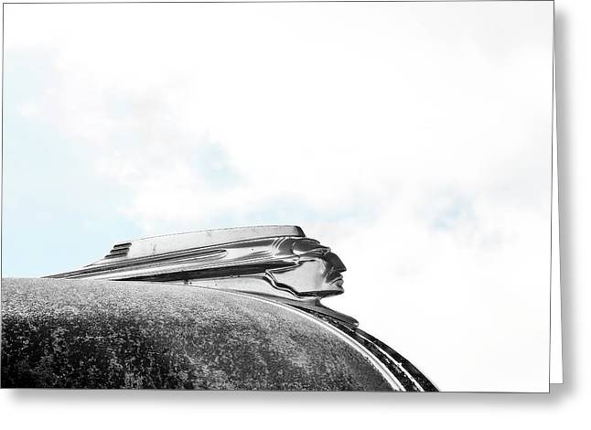 Indian Chief Hood Ornament Greeting Card