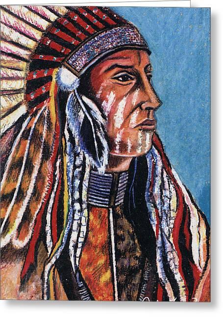 Indian Chief Greeting Card by John Keaton
