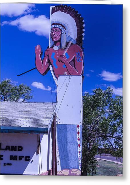Indian Chief Sign Arizona Greeting Card