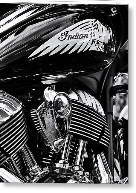 Indian Chieftain Greeting Card by Tim Gainey