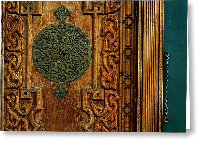 Indian Door Greeting Card by Murray Bloom