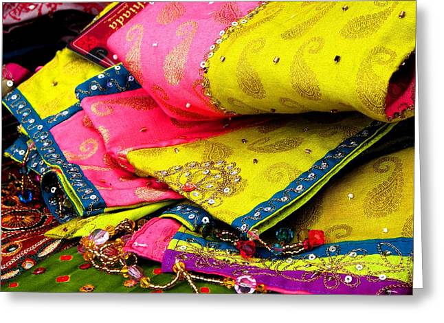 Indian Fabric Two Greeting Card