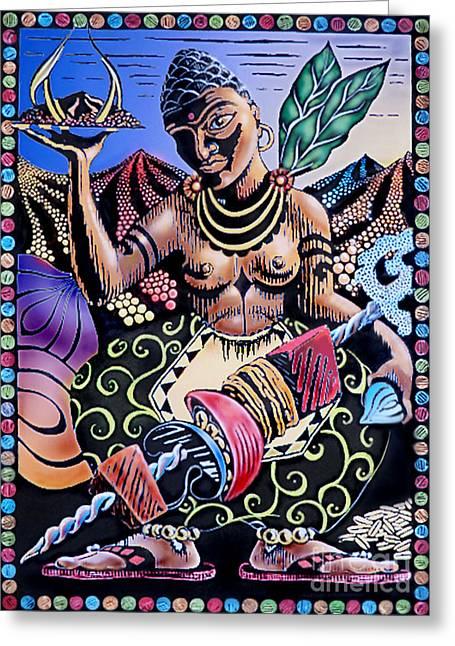 Indian Food Greeting Card by Debbie  Diamond