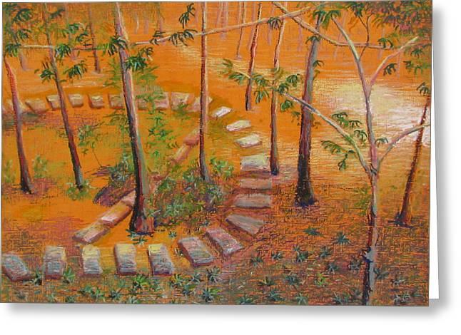 Indian Garden Greeting Card by Art Nomad Sandra  Hansen