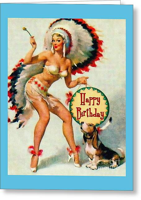 Indian Girl - Birthday Celebration Greeting Card