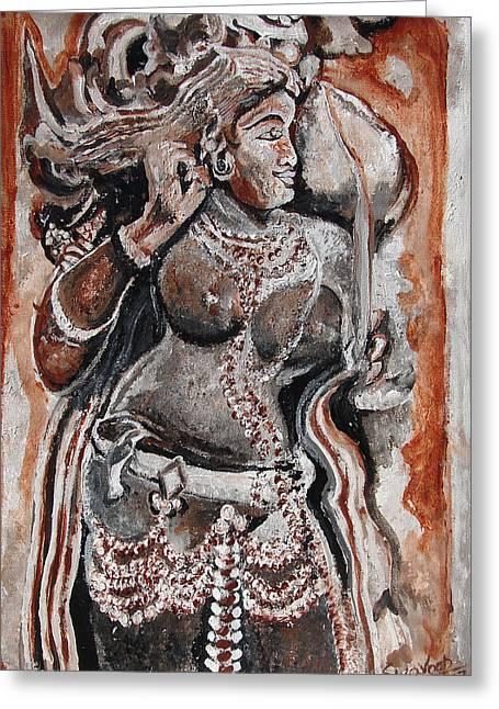 Indian Heratage-2 Greeting Card by Anand Swaroop Manchiraju