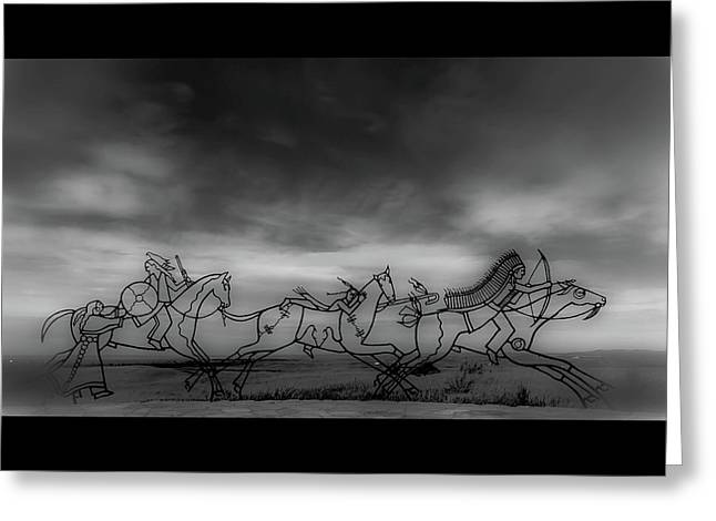 Indian Memorial At Little Bighorn National Monument Greeting Card by Marissa Hodge