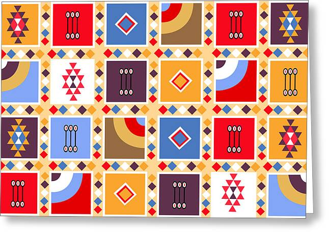 Indian Mexico Pattern On The Carpet Greeting Card