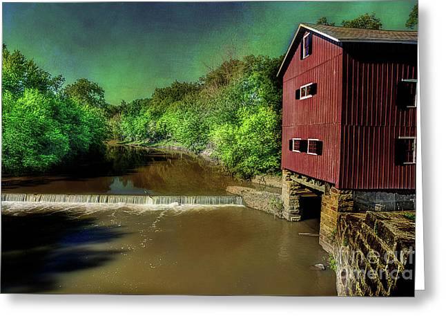 Indian Mill Greeting Card by Michael Eingle